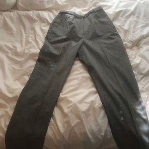 pinstriped and checkered slacks